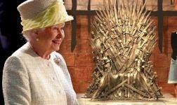 Королева Великобритании Елизавета II на съемках «Игра престолов»